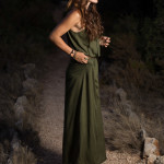 Green maxi summer dress