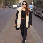 latin blogger winter look in London