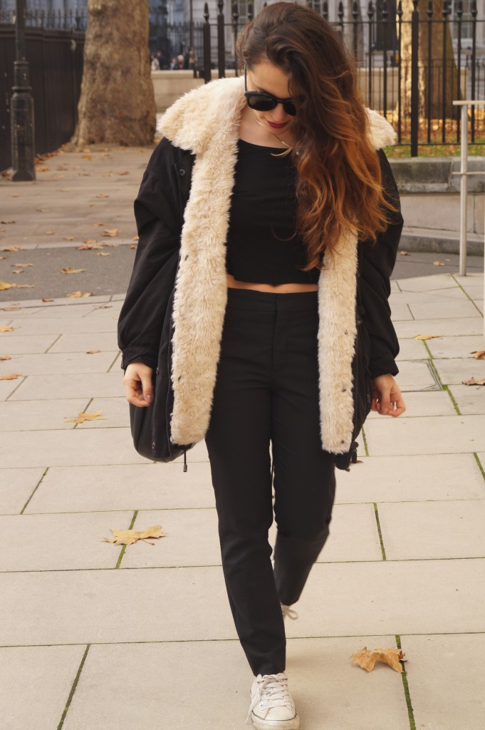 outfit black clothes, street style autumn days