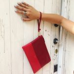 Red Handmade Milan Clutch